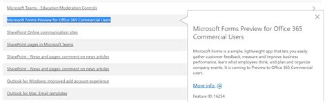 Office 365 Turn Conversation Microsoft Forms Being Made Available Wider Than Education