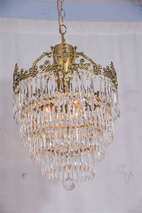 Reclaimed Chandeliers Antique Brass Chandelier With Crystals Antique Furniture