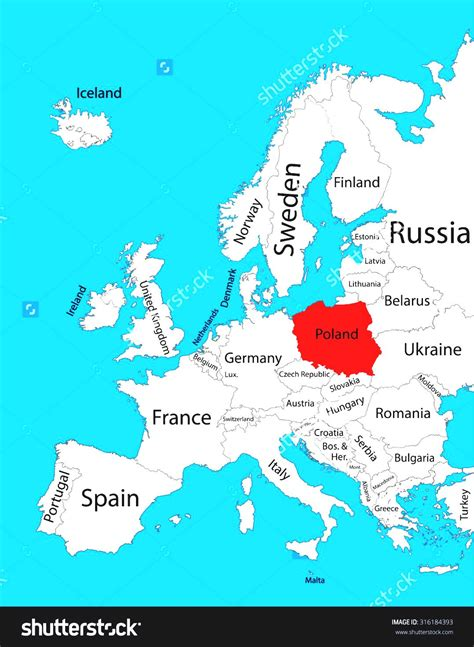 poland map europe poland world map grahamdennis me