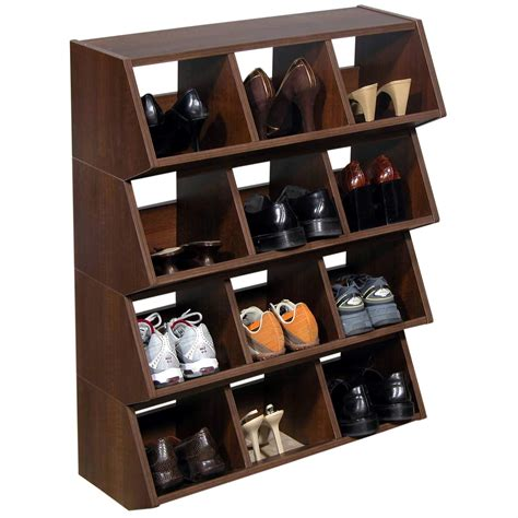 unique storage unique wood stackable shoe bin storage for garage