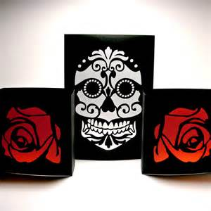 Day Of The Dead Home Decor by Dia De Los Muertos Sugar Skull Luminaries Day Of By
