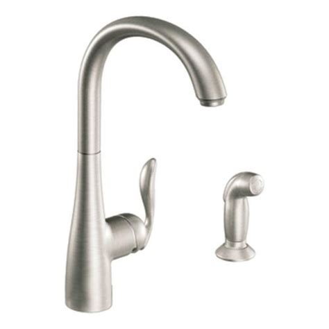 menards moen kitchen faucets moen arbor single handle kitchen faucet with matching side