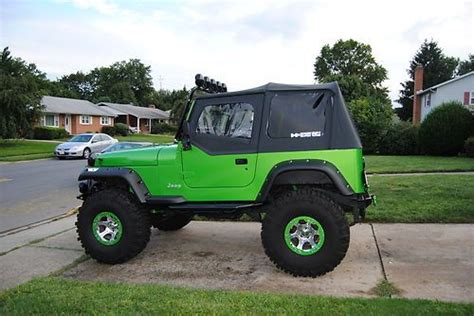 Jeeps For Sale In Frederick Md Sell Used Custom Jeep Wrangler Yj Lifted 38 Tires In