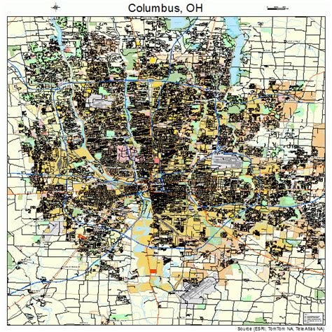 columbus ohio map columbus ohio map 3918000