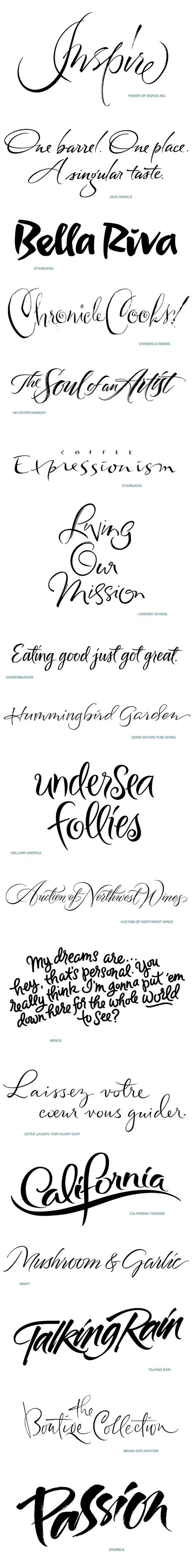different tattoo fonts contemporary script lettering portfolio one on behance