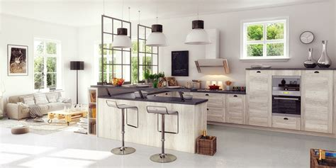 agréable Modele De Cuisine Ouverte Sur Salle A Manger #1: cuisine-ouverte-salon-verriere-industrielle.jpg