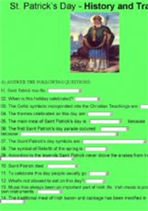 s day history and traditions esl exercises st patrick s day history and