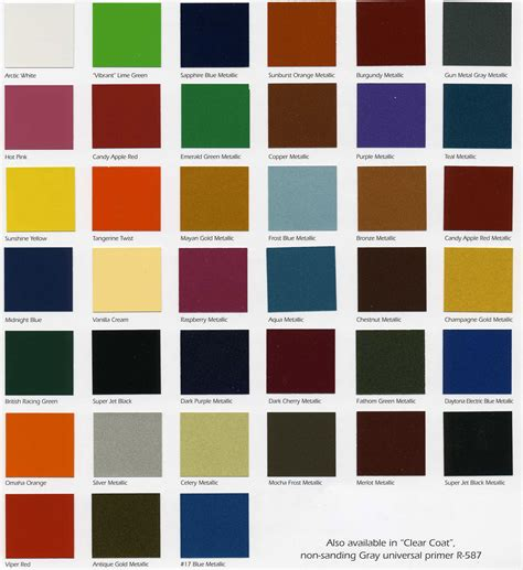 paint color starfire automotive finishes color chip chart automotive