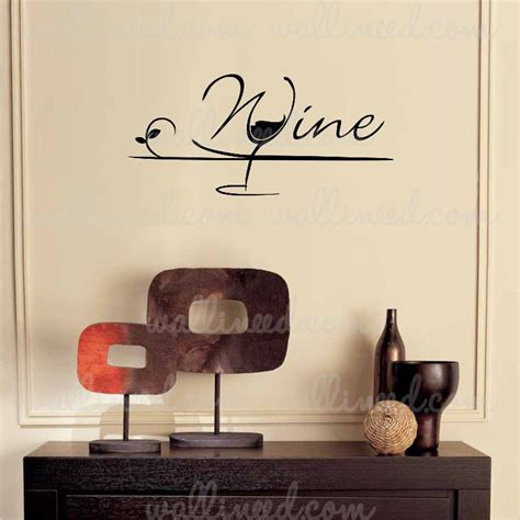 kitchen wall decor stickers wine glass wall decal