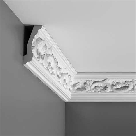 stuck polyurethan corniche moulure de plafond orac decor pour cimaise deco