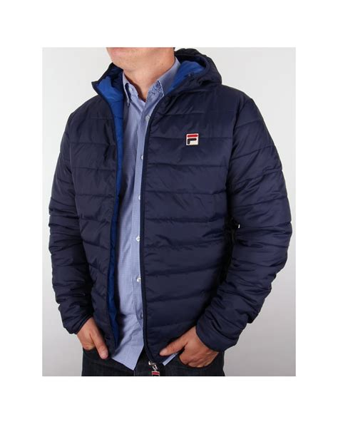 Navy Reversible Jacket fila vintage pallia reversible puffer jacket navy royal