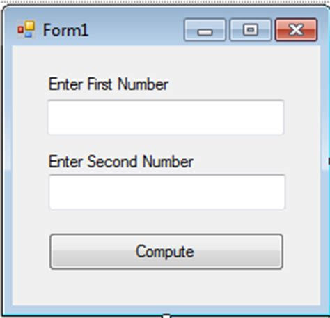 simple visual basic program to add two numbers compute the sum of two numbers in visual basic net