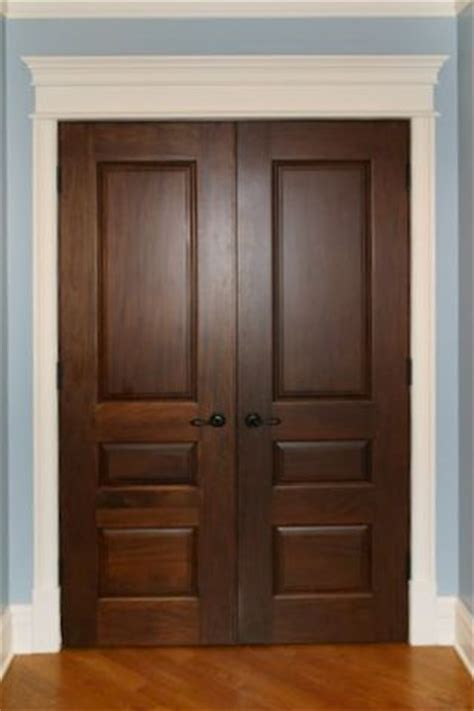 Interior Design Painted Trim And Stained Doors Home Brown Interior Doors