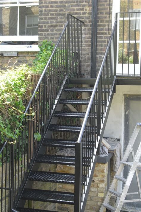 exterior staircase steel staircase london hammersmith arc fabrications