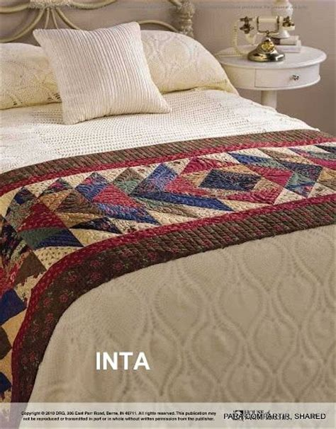 Patchwork Bed Runner Patterns - 633 best images about patchwork y quilting pie de cama