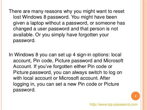reset windows password microsoft account reset lost windows 8 password for local microsoft