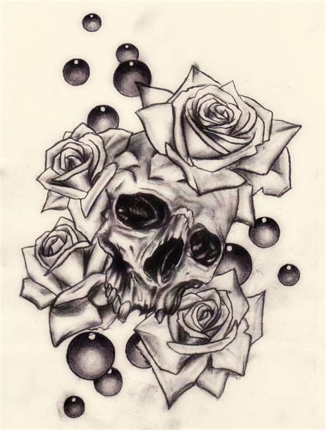 skull n rose tattoo 244 best images about roses on