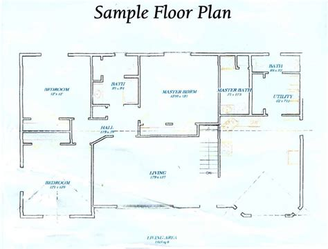 scaled floor plan how to draw floor plan scale cool plans house drawing
