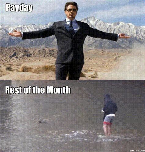 Pay Day Meme - payday rest of the month memes com