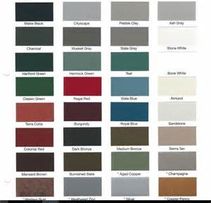 metal roofing colors metal color choices metal roofing installation and repair