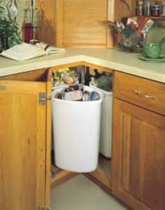 Corner Cabinet Solutions In Kitchens by Kitchen Solutions Lazy Susan Trash Recycling