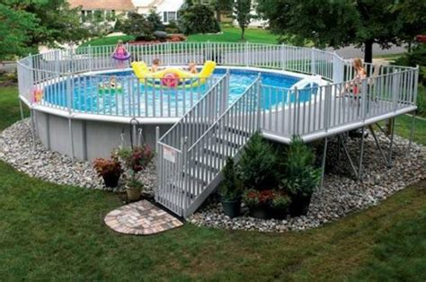 Backyard Swimming Pools Above Ground 40 Uniquely Awesome Above Ground Pools With Decks