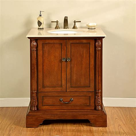 32 inch single sink bathroom vanity in walnut uvsr0270cm32