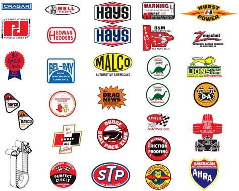 Cars Logo Sticker by 247 Best Vintage Racing Logos And Decals Images On