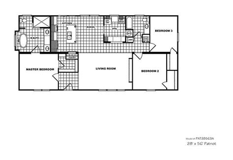 patriot homes floor plans cmh patriot par28563a 3 bedroom double wide for sale