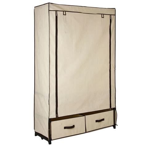 pin portable canvas wardrobe closet on