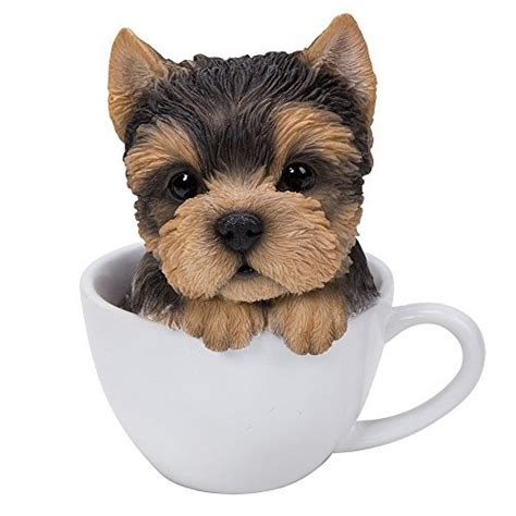 yorkie for cheap price pacific giftware adorable teacup pet pals puppy collectible figurine 5 75 inches