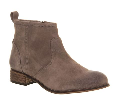office memento ankle boots in brown for taupe lyst