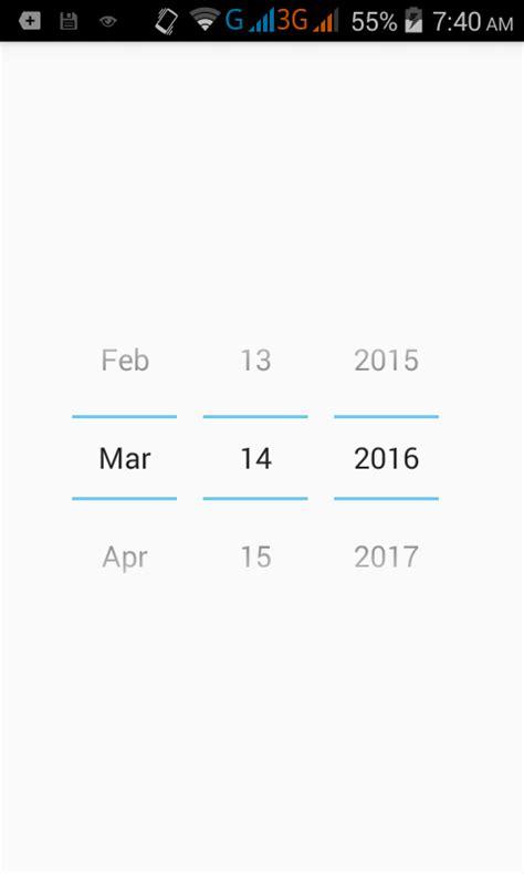 Calendar Xml Format Hide Remove Calendar From Datepicker In Android Using Xml