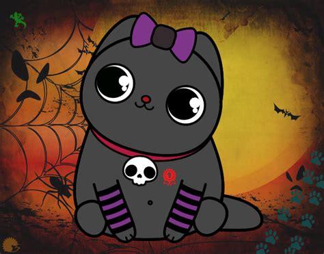 imagenes kawaii de gatos dibujo de gato kawaii pintado por en dibujos net el d 237 a 19