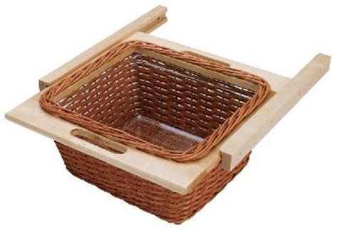 rev a shelf woven basket contemporary baskets by 420mm 18 2 16 in rattan basket rails and liner 4wb 420i