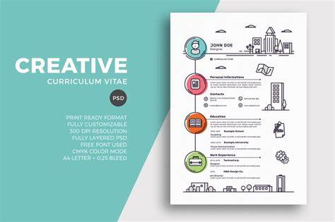 creative curriculum vitae format creative resume cv template by sztufi on envato elements