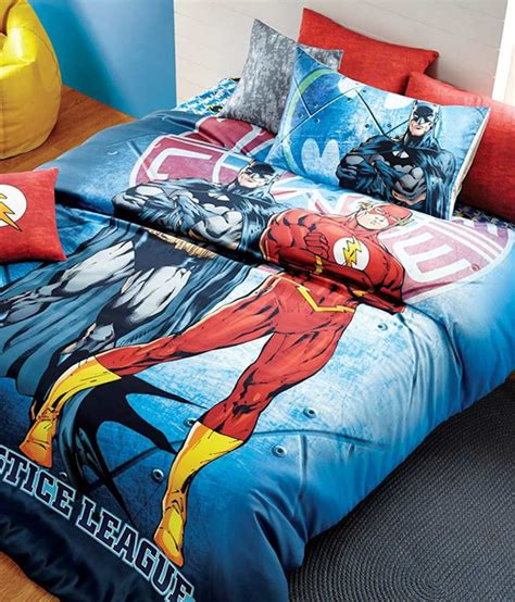 justice league bedroom dctex furnishings justice league king size bed sheet with