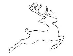 Reindeer Template by Flying Reindeer Pattern Use The Printable Outline For