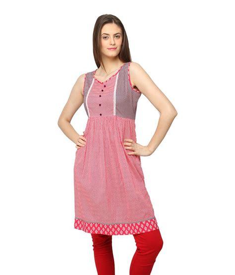 globus white cotton printed v globus pink printed cotton medium sleeveless kurti price in india buy globus pink printed