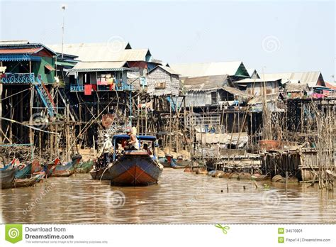 Lake House House Plans floating village in cambodia editorial photo image 34570801