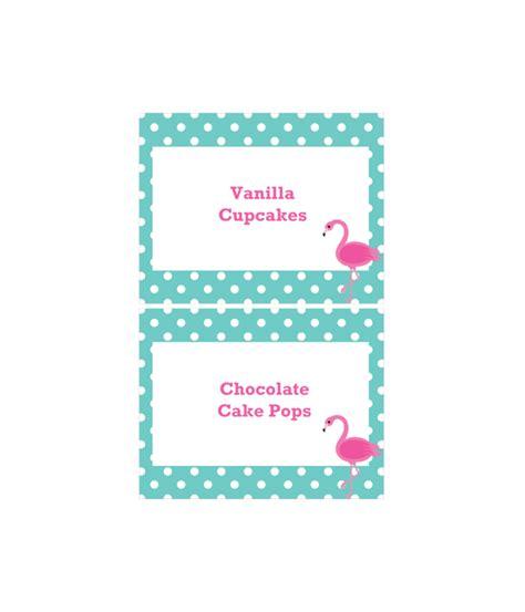 dessert labels template free printable polka dot flamingo dessert table labels from printablepartydecor free