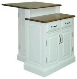 shop houzz home styles furniture woodbridge 2 tier island white kitchen islands and kitchen