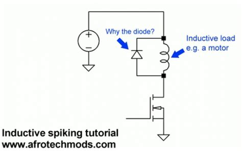 flyback diode theory flyback diode tutorial 28 images nerdkits driving a dc motor in or buying an h bridge