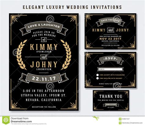 Unique Luxury Wedding Invitations by Unique Luxury Wedding Invitations Template Stock Vector