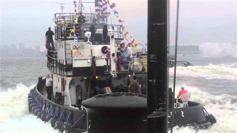 fireboat john j harvey youtube 21st annual great north river tugboat race 2013 youtube