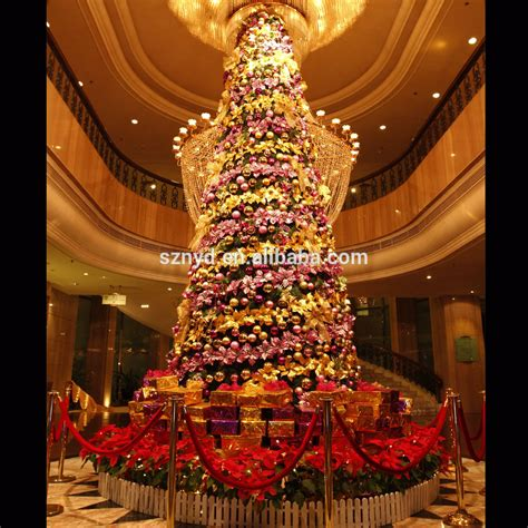 who has the biggest indoor christmas tree large artificial lighted indoor tree decoration with gifts buy tree