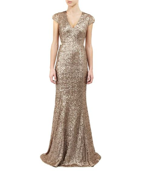 Gold Maxi by Project D Aphrodite Maxi Dress In Gold Designer Dresses