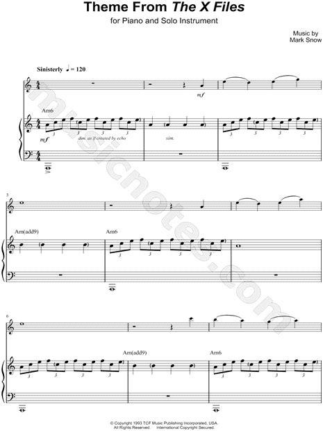 piano tutorial x files theme quot theme from the x files abridged piano accompaniment