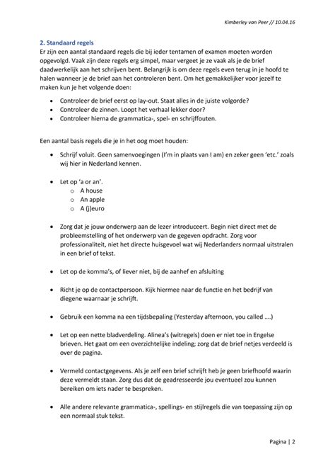 layout engelse zakelijke brief engelse brief indeling voorbeeld cv 2018