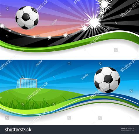 banner shutterstock soccer banners stock vector 76863796 shutterstock